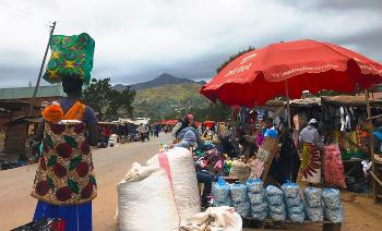 Roadside market in Malawi