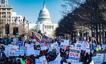 Washington D.C. protest march