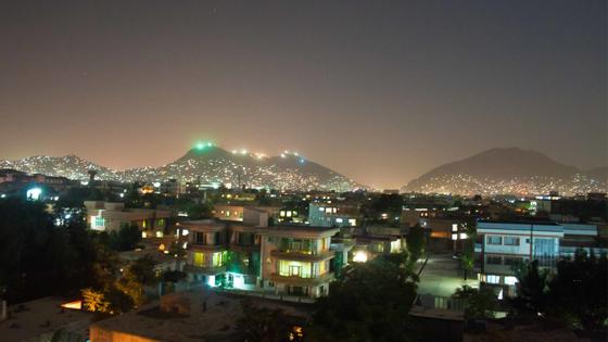Building, sky, night, Kabul